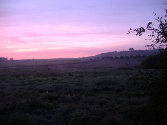 Dawn over Salisbury Plain