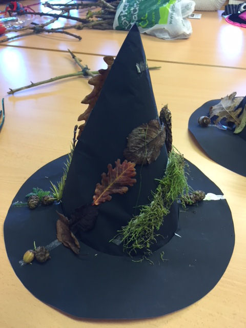 Decorated witch's hat