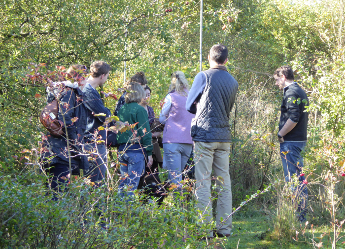 Visitors finding out about bird ringing
